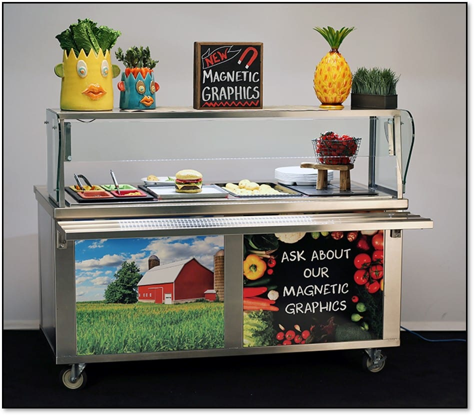 QS Series cart with magnetic graphics